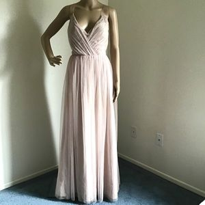 Watters & Watters dress Sz 8 ashes of roses